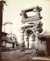 View from the east of the north porch of the Rudra Mahalaya Temple, Siddhapur